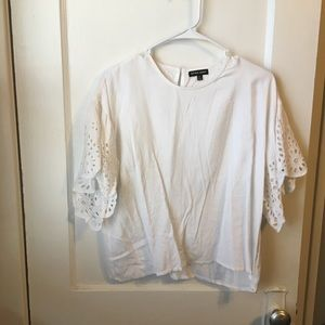 Tops - Lace sleeve crop top